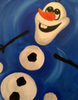 Frozen snowman  mini canvas 9x12