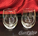 Monogrammed Wine glass etching
