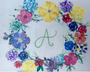 Monogrammed  Floral Wreath