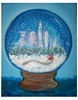Snow globe mini canvas