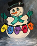 Merry Snowman! New painting!