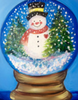 Snowman Globe with Glitter!