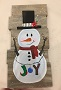 Snowman on Wood Canvas
